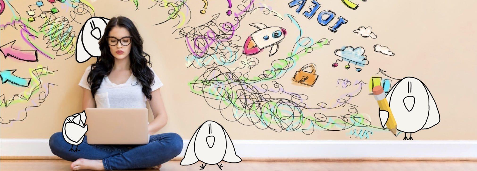 iBird wall doodle